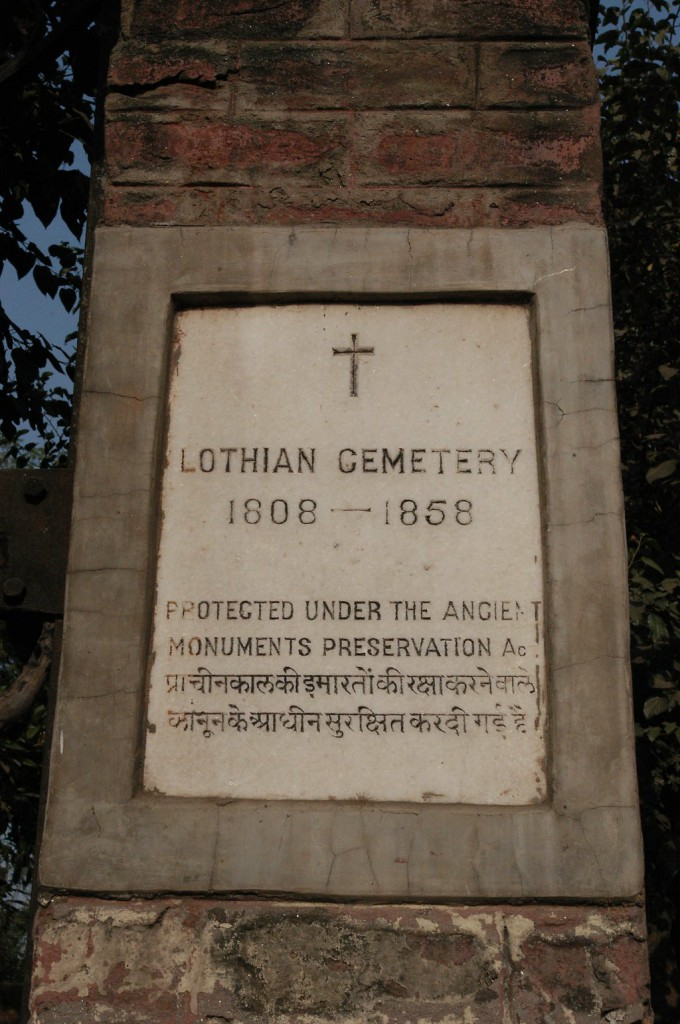 Lothian Cemetery, Delhi